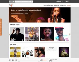 Music In Africa Music page