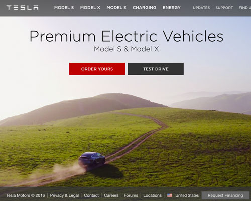 Tesla website uses Drupal